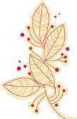 Ramo de folhas — Vetorial Stock