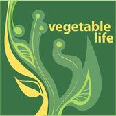 Vegetable life — Stock Vector