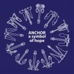 ancre - un symbole d'espoir — Vecteur #27867955