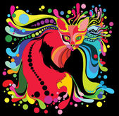 Psychedelic cat — Vector de stock