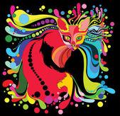 Psychedelic cat — Stock Vector