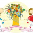 Mother's Day card — Imagen vectorial