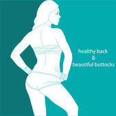 Healthy back and beautiful buttocks — Vector de stock