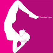 Yoga every day — Stok Vektör