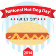Stock Vector: National Hot Dog Day