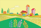 A small village — Stock Vector