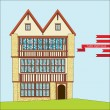 Stock Vector: Tudor style house