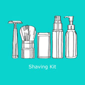 Shaving kit — Stock Vector