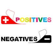 Positiv. negative — Stockfoto