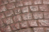 The road paved with paving tiles, textures — Stock Photo