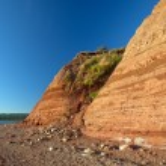 Sandstone cliffs in Nova Scotia — Stock Photo #12034489