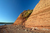 Sandstone cliffs in Nova Scotia — Stockfoto