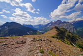 Panorama from an alpine trail — Stock Photo