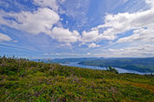 View from a Mountaintop in summer — Stock Photo
