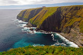 Haze and Sun on Remote Ocean Cliffs — Stock Photo