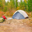 Stock Photo: Fall Campsite in wilds