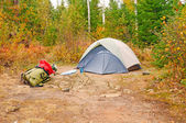 Fall Campsite in the wilds — Stock Photo