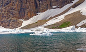 Ice in an Alpine Lake — Stock Photo