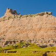 Stock Photo: Badlands Escarpment in Summer