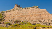 Badlands Escarpment in the Summer — Stock Photo