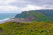 Remote Coastal Beach on Cloudy Day — Stock Photo