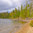 Sandy Beach on a North Woods Lake — Stock Photo #17835891