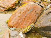 Colorful and worn rocks in a Mountain Valley — Stock Photo