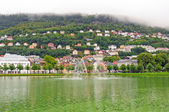 Nordic Town on a Cloudy Day — Stock Photo