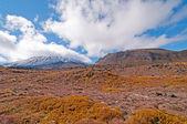 Sopka a jeho sopečná krajina — Stock fotografie