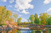 Scenic Bridge over a Quiet Stream — Stock Photo