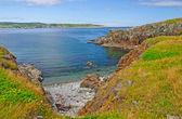 Ensenada abrigada en la costa atlántica — Foto de Stock