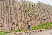Suche nach einer natürlichen felswand — Stockfoto