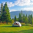 Campsite in Early Morning on Coast — Stock Photo #21456931