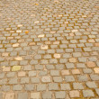 Brick sidewalk in Europe — Stock Photo