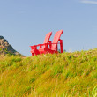 Red Chairs against Blue Sky — Stock Photo #21907865