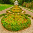Gazebo and Walk way in an English Formal Garden — Stok fotoğraf