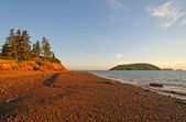 Gravel Beach at Sunset — Foto de Stock