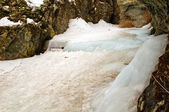 Frozen Falls in the Mountains — Stock Photo