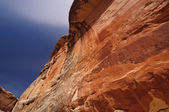 Red Canyon Wall in the American West — Stock Photo