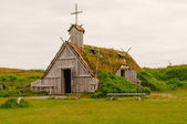 Replica Church in Viking Village in Newfoundland — Stock Photo