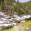 Mountain Stream in Spring Snow — Stock Photo #24455665