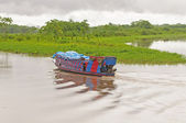 Local Ferry Boat in the Amazon River — Foto Stock
