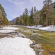 Rushing River with Winter Snowmelt — Stock Photo #24629051