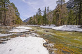 Rushing River with Winter Snowmelt — Stock Photo