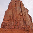 Sandstone Monolith against the sky — Stock Photo