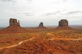 Panorama de las rocas rojas rurales — Foto de Stock