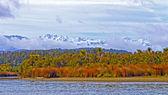 Coastal Mountains viewed from an ocean lagoon — Stock Photo