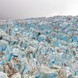 Blue ice at a Glacial Ice fall — Stock Photo
