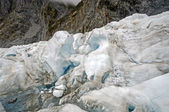 Blue Ice on an Alpine Glacier — Stock Photo