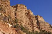 Kijken op canyon muren — Stockfoto